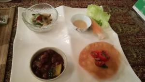 菜食ゆにわの月替わりランチプレート前菜