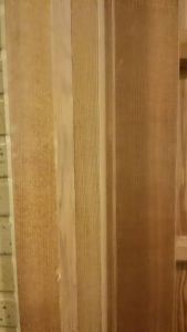 トイレの扉の枠