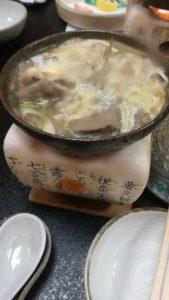 松阪牛鍋の卵とじ