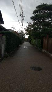 松阪工業への通学路、昔からの武家屋敷跡など趣のある風景